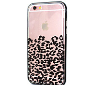 Leopard Print LED Flicker Back Cover+Bumper for iPhone 6/6s