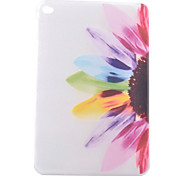 Colorful Flowers Half Pattern TPU Soft Back Tablet Case for iPad Mini 4