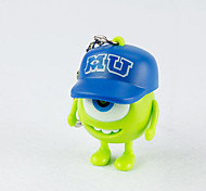 1pc Novelty Bell Pendant Monster University Mike Sully Keychain Key Ring