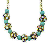 Vintage Silver Plated Blue Beads Collar Necklace