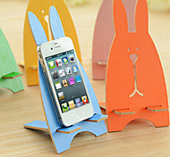 Cartoon Rabbit Cell Phone Charging Stand Holder Portable Earstud Winding Device (Random Color)