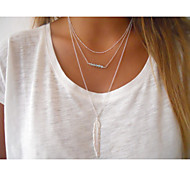 Женский Ожерелья с подвесками Кристалл Сплав европейский бижутерия Мода Простой стиль Бусины Бижутерия Назначение Для вечеринок