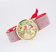 Leisure Lady's Wristwatch with The Dial Picture Printing Women's Wristwatch Special Strap Of Rhinestone Style Cool Watches Unique Watches