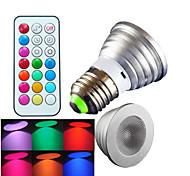 1 pcs SchöneColors E26/E27 4W High Power LED Dimmable / Remote-Controlled / Decorative RGB LED Spotlight AC 100-240 V