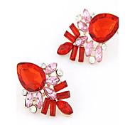 Earring Stud Earrings Jewelry Women Alloy 2pcs Blue / Pink