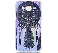 Black Campanula Pattern PC Material Phone Case for Samsung Galaxy J1/J5/J7