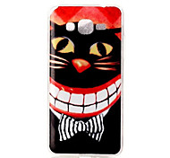 Cat Mouth Pattern TPU Soft Case Phone Case For Samsung Galaxy J5/J1/G530