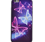 Butterfly Pattern Black TPU Soft Case Phone Case for iPhone 6/6S