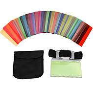 30pcs sidande filtro de color kit DSLR lámpara de cámara de tarjeta de tono de color universal de flash Speedlite Canon Nikon Sony Pentax