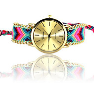 Women's European Style Fashion Ethnic Style Hand-woven Color Bracelet Watch