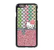 Lovely Pink Cartoon Cat Design Aluminum Hard Case for iPhone 6/6S