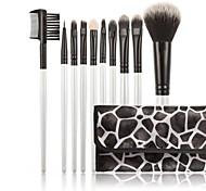 Synthetic Kabuki Makeup Brush Set Cosmetics Foundation Blending Brush Makeup Brush Kit (10pcs)