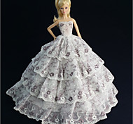 Party & Sera Abiti Per Barbie Doll Bianco Abiti