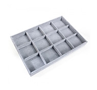 endant Ring Jewelry Display Holder Stand Showcase Collection Storage Boxes New 35.5 * 24.5 * 3cm 1pcs 12Grid