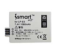 ismartdigi LPE5 Digital Camera Battery x2 + O.Charger for Canon EOS 500D/1000D/450D