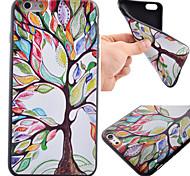 красочные картины дерево черный TPU мягкий чехол телефон случае для iphone 6 плюс / 6с плюс