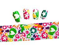 6pcs/type 100cmx4cm  Colorful  Glitter  Nail Foil Sticker  DIY Beauty  Nail Decorations  Sticker STZXK01-49