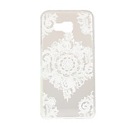 White Flower Corners Pattern TPU Soft Case Phone Case for Samsung Galaxy A3/A5/A7/A3 10/A510/A710