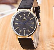 Unisex's Fashion Leather Band Quartz Analog Wrist Watch(Assorted Colors)