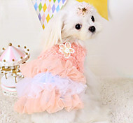 Dog Dress Blue / Pink Dog Clothes Spring/Fall Fashion