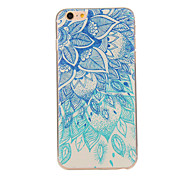 Green Blue Pattern TPU Soft Case Phone Case for iPhone 6/6S