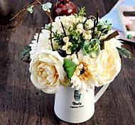 10 Head/Bouquet Gerbera Rose Berry Tie-In Decorate Bouquet Bride Hand Tied Bouquet