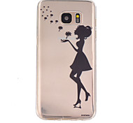 The Girl Pattern TPU Soft Relief Case for Samsung Galaxy S7/S7 edge/S7 Plus/S6/S6 edge/S6 edge Plus/S5
