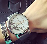 Mujer Reloj de Moda Reloj Pulsera Cuarzo PU Banda Negro Blanco Gris Color Beige