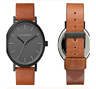 Unisex Watch Genuine Leather Japaneze Quartz Movement Case Water Resistant 3ATM Watch For Women Famous Men