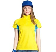 Summer Women's Outdoor Brand Tectop Camping Hiking Polyester Quick Dry Short Sleeve T Shirts Sportswear
