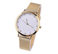 la mode genève montres hommes femmes or jaune acier inoxydable montre-bracelet à quartz de ceinture