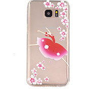 Dancing Girl Pattern TPU Soft Relief Case for Samsung Galaxy S7/S7 edge/S7 Plus/S6/S6 edge/S6 edge Plus/S5