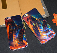 New York NEON Nightscape Blu-ray Reflective Glitter Semitransparent Soft iphone Back  Cover for iphone 6s/iphone 6