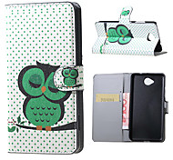 Dozing Owl Magnetic PU Leather wallet Flip Stand Case cover for Microsoft Lumia 650