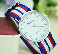 Unisex Fashion Personality New Canvas Geneva Simple Watch without Second Hand Watches