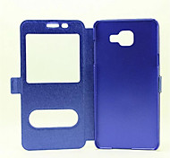 Window Flip Cover Support Silk Grain Fashion Mobile Phone Shell for Samsung A9/A310/A510/A710 Assorted Colors