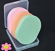 Algodão de Maquiagem Esponjas Naturais 4 Redonda 12*9*8 Normal Verde