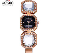 WEIQIN® Rose Gold Crystal Bangle Bracelet Watches Women Timepiece Female Wristwatch Fashion Dress Watch Clock Girls Cool Watches Unique Watches