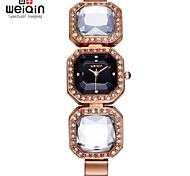 WEIQIN® Rose Gold Crystal Bangle Bracelet Watches Women Timepiece Female Wristwatch Fashion Dress Watch Clock Girls