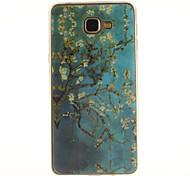Apricot blossom tree Pattern TPU+IMD Soft Case for Samsung Galaxy A9/A9000
