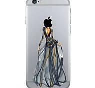 Creative Fashion Girl Pattern TPU Soft Case Phone Case iPhone 6/6S