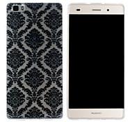Mobile Shell funda protectora cáscara suave de TPU transparente patrón de patrones auspicioso para Huawei p8 Lite