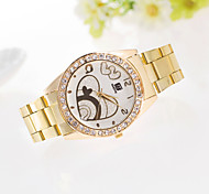 Women's Watch Casual Fashion Diamond Heart-Shaped Pattern Steel Ladies Quartz Watch Cool Watches Unique Watches
