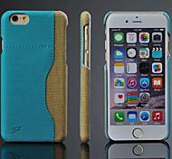 projeto de emenda de volta para o caso de cartão de couro de vidro para iphone 6 6s iphone (cores sortidas)