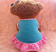 Dog Dress Blue Summer Hearts Fashion