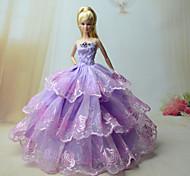 Barbie Doll - Abiti - Party & Sera - di Organza / Pizzo - Viola chiaro - Abiti