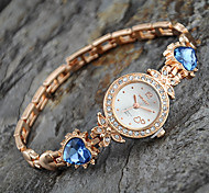 Women's European Style New Fashion Rhinestone Heart Bracelet Watches Cool Watches Unique Watches
