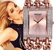 Damen Modeuhr Quartz Wasserdicht Imitation Diamant Legierung Band Vintage Armreif Elegante Silber Gold Rotgold 1 # 2 # 3 # 4 # 5 #