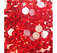 1440pcs/pack Red Colors Rhinestones DIY Crystal Glass Designs Nail Art  3d Decoration Diamond NC239