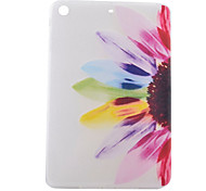 Colorful Flowers Half Pattern TPU Soft Back Tablet Case for iPad Mini 3/2/1